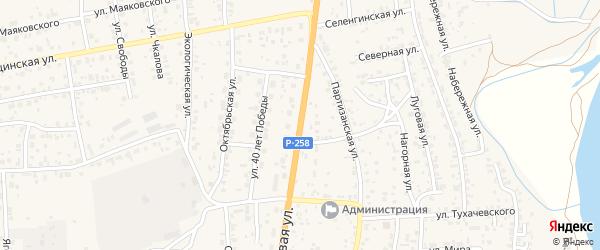 Трактовая улица на карте села Сотниково с номерами домов