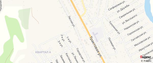 Лесная улица на карте территории ДНТ Авиатор-2 с номерами домов