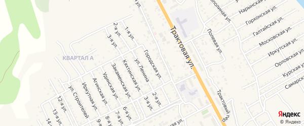 Улица Городская (ДНТ Овощевод) на карте села Сотниково с номерами домов