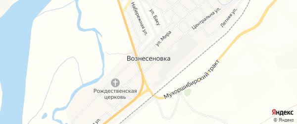 Дачное некоммерческое партнерство ДНТ Саянтуй на карте села Вознесеновка с номерами домов