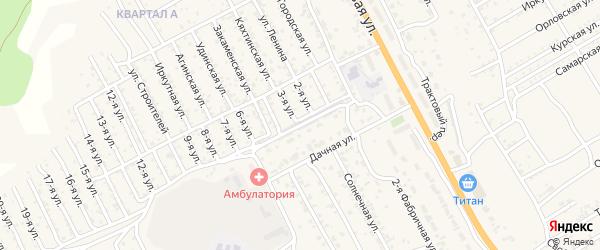 Дачный переулок на карте села Сотниково с номерами домов