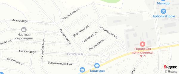 Крылатая улица на карте Улан-Удэ с номерами домов