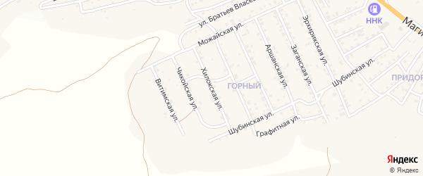 Хилокская улица на карте Улан-Удэ с номерами домов