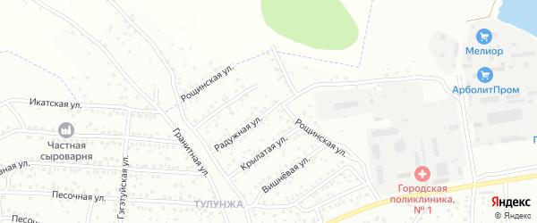 Рощинская улица на карте Улан-Удэ с номерами домов