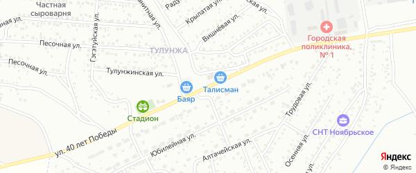 Улица 40 лет Победы на карте Улан-Удэ с номерами домов