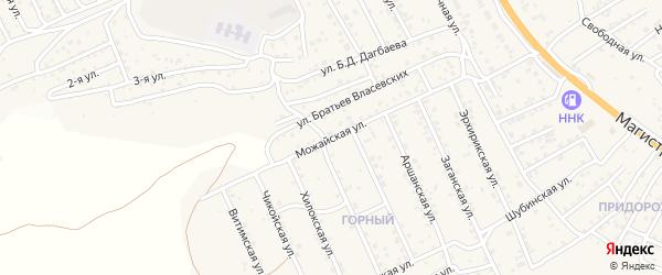 Можайская улица на карте территории ДНТ Овощевода-2 с номерами домов