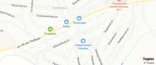 Кооперативная улица на карте Улан-Удэ с номерами домов