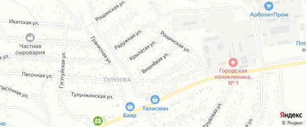 Вишневая улица на карте Улан-Удэ с номерами домов