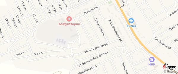 Комсомольская улица на карте села Сотниково с номерами домов