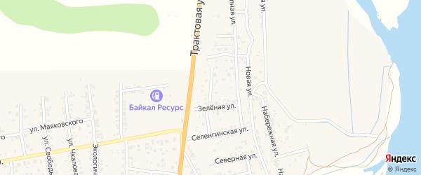 Придорожная улица на карте села Сотниково с номерами домов