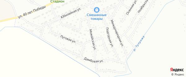 Можайская улица на карте Улан-Удэ с номерами домов