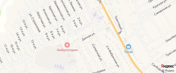 Дачная улица на карте села Сотниково с номерами домов