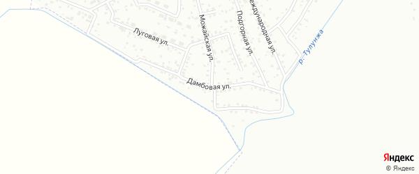 Дамбовая улица на карте Улан-Удэ с номерами домов