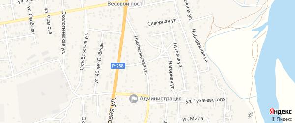 Северная улица на карте территории ДНТ Алтаргана с номерами домов