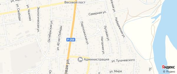 Северная улица на карте села Сотниково с номерами домов