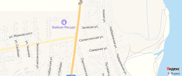 Селенгинская улица на карте села Сотниково с номерами домов