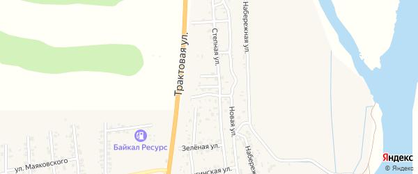 Улица Ивовая проезд 1 на карте Улан-Удэ с номерами домов