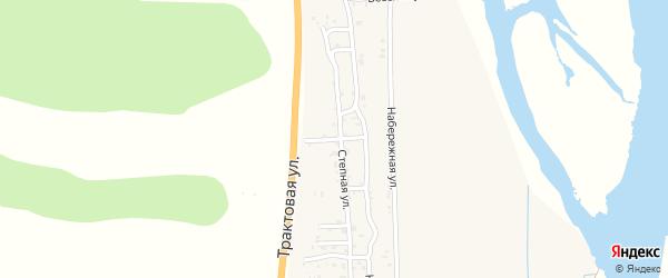Прибрежная улица на карте села Сотниково с номерами домов