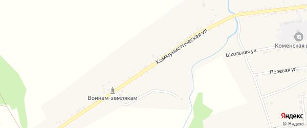 Колхозная улица на карте села Острога с номерами домов
