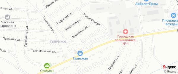 Обусинская улица на карте Улан-Удэ с номерами домов