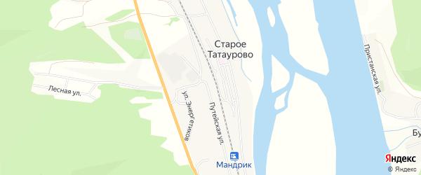 Карта села Старого Татаурово в Бурятии с улицами и номерами домов