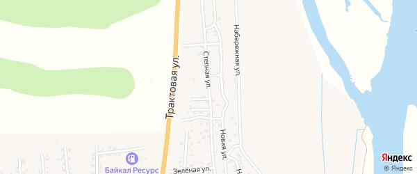 Зеленая улица на карте села Сотниково с номерами домов