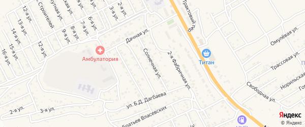 Солнечная улица на карте села Сотниково с номерами домов