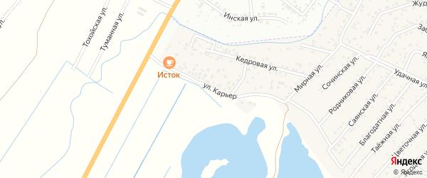 Улица Карьер квартал Северный на карте села Сужа с номерами домов