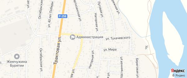 Нагорная улица на карте села Сотниково с номерами домов