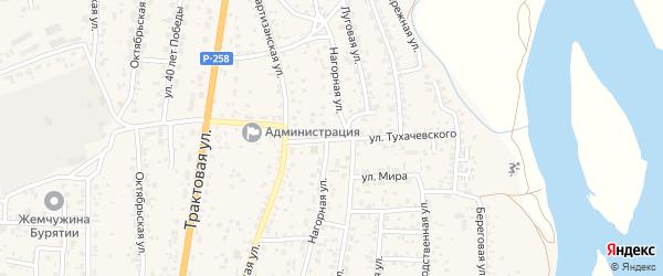 Улица Тухачевского на карте села Сотниково с номерами домов