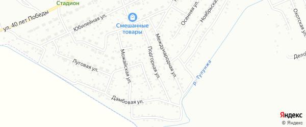 Подгорная улица на карте Улан-Удэ с номерами домов