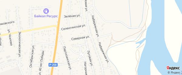 Новая улица на карте села Сотниково с номерами домов