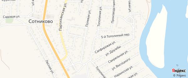 Улица Тополиная (ДНТ Респект) на карте села Сотниково с номерами домов