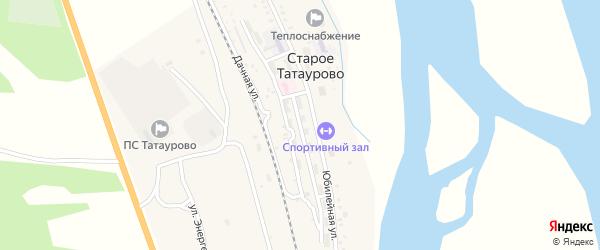 Комсомольская улица на карте села Старого Татаурово с номерами домов