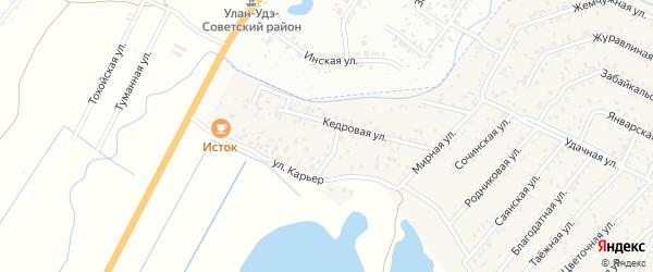Береговая улица на карте территории Надежды с номерами домов