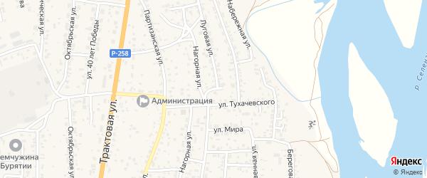 Новый переулок на карте села Сотниково с номерами домов