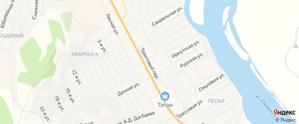 Территория Гаражный кооператив Трактовый на карте села Сотниково с номерами домов