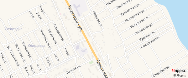 Трактовый переулок на карте села Сотниково с номерами домов