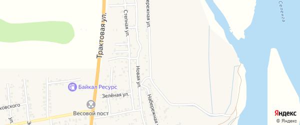 Набережная улица на карте села Сотниково с номерами домов