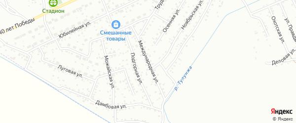 Международная улица на карте Улан-Удэ с номерами домов