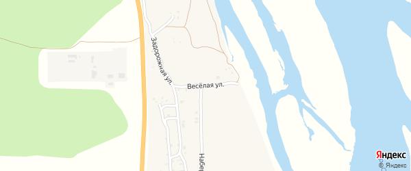 Весёлая улица на карте села Сотниково с номерами домов