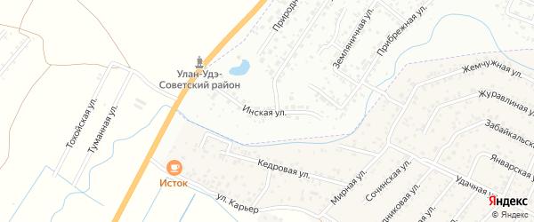 Инская улица на карте Улан-Удэ с номерами домов