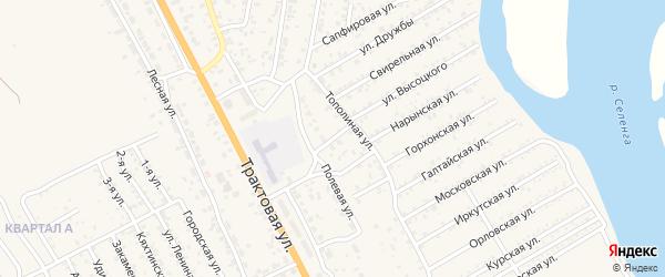 Студенческая улица на карте села Сотниково с номерами домов