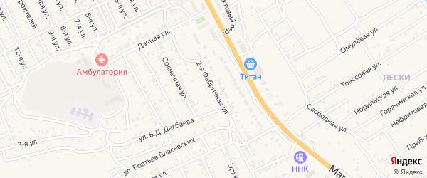 Фабричная улица на карте села Сотниково с номерами домов