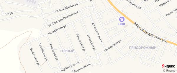 Квартал Горный Заганская улица на карте села Сотниково с номерами домов