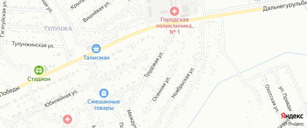 Трудовая улица на карте Улан-Удэ с номерами домов