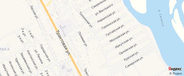 Коралловая улица на карте села Сотниково с номерами домов