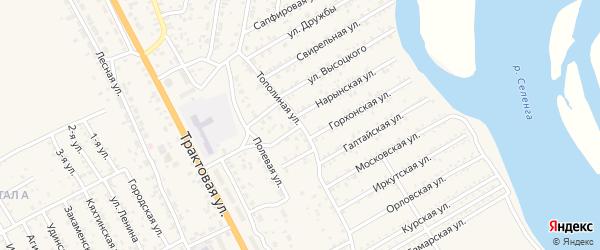Проточная улица на карте села Сотниково с номерами домов
