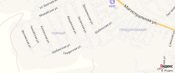 Квартал Придорожный Шубинская улица на карте села Сотниково с номерами домов