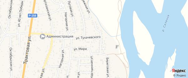 Есенина 2-й переулок на карте села Сотниково с номерами домов